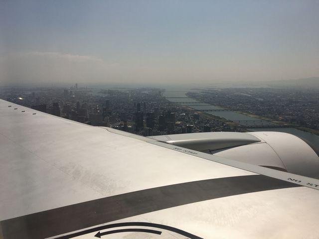 飛行機から見た淀川