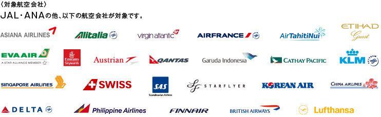 28社の対象航空会社