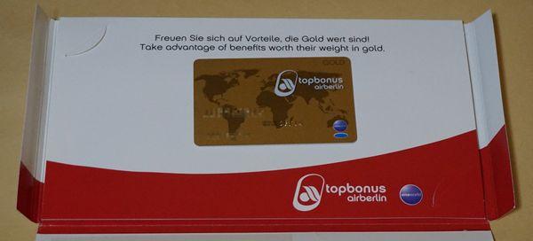 エアベルリンゴールドカード画像