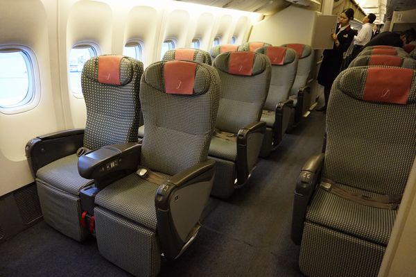 JAL922便クラスJシート画像