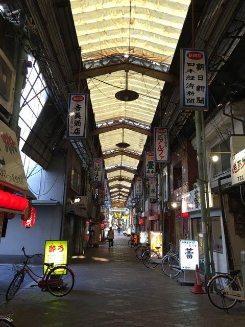 西成のスナック街