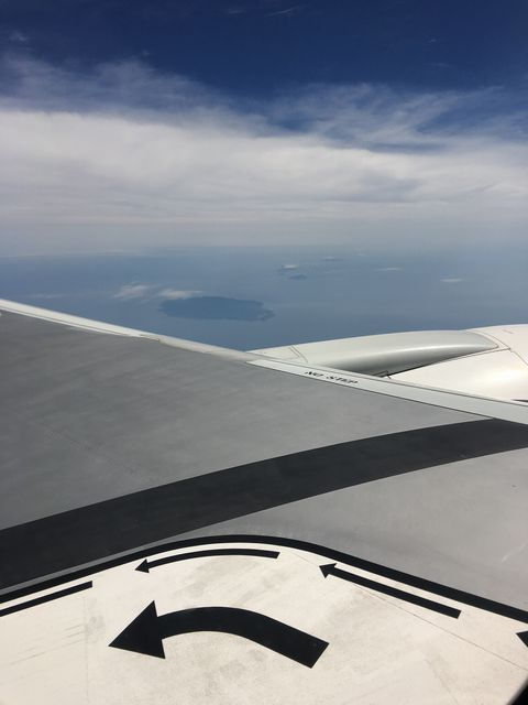 飛行機から見た大島