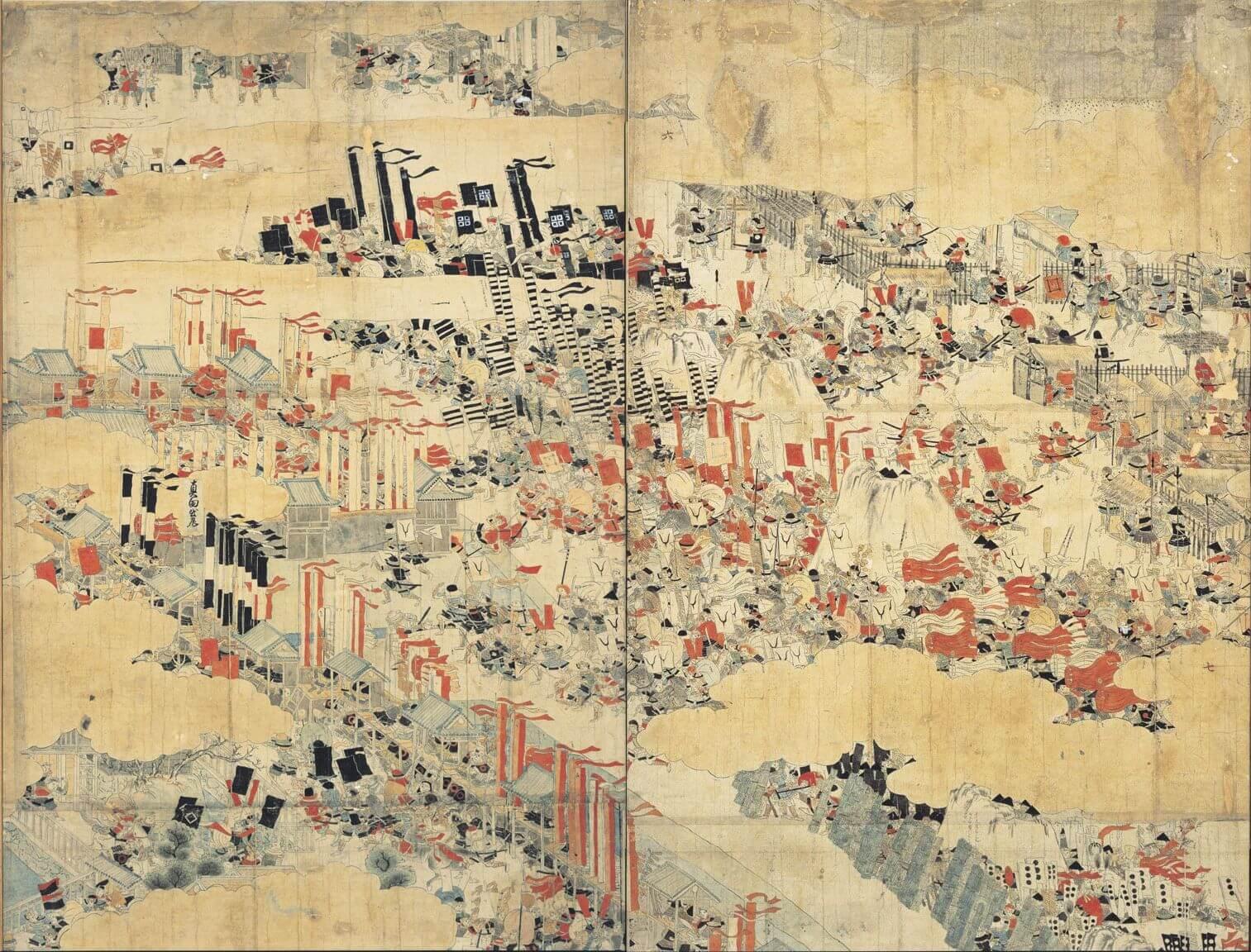 大阪冬の陣図屏風の真田丸攻防