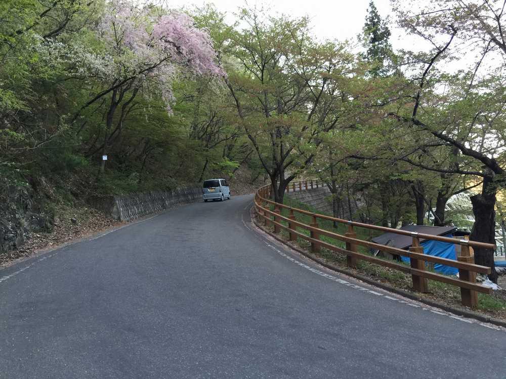 天童公園の坂道画像