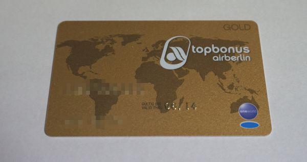 エアベルリンゴールドカード有効期限画像