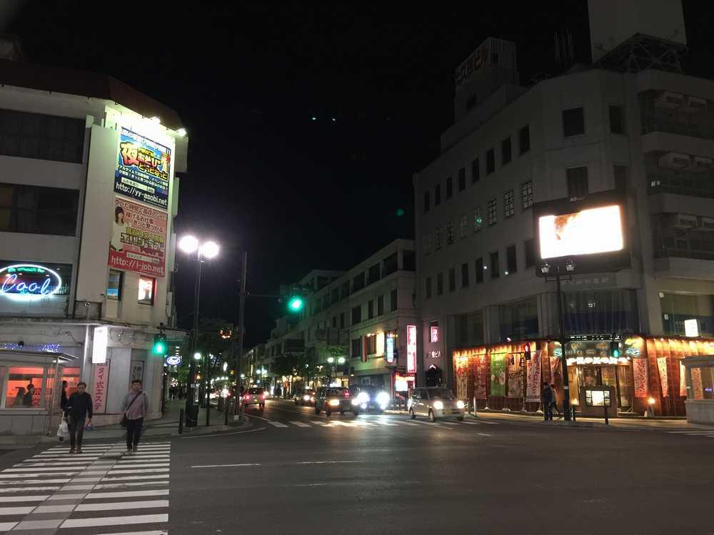 山形駅前の交差点画像